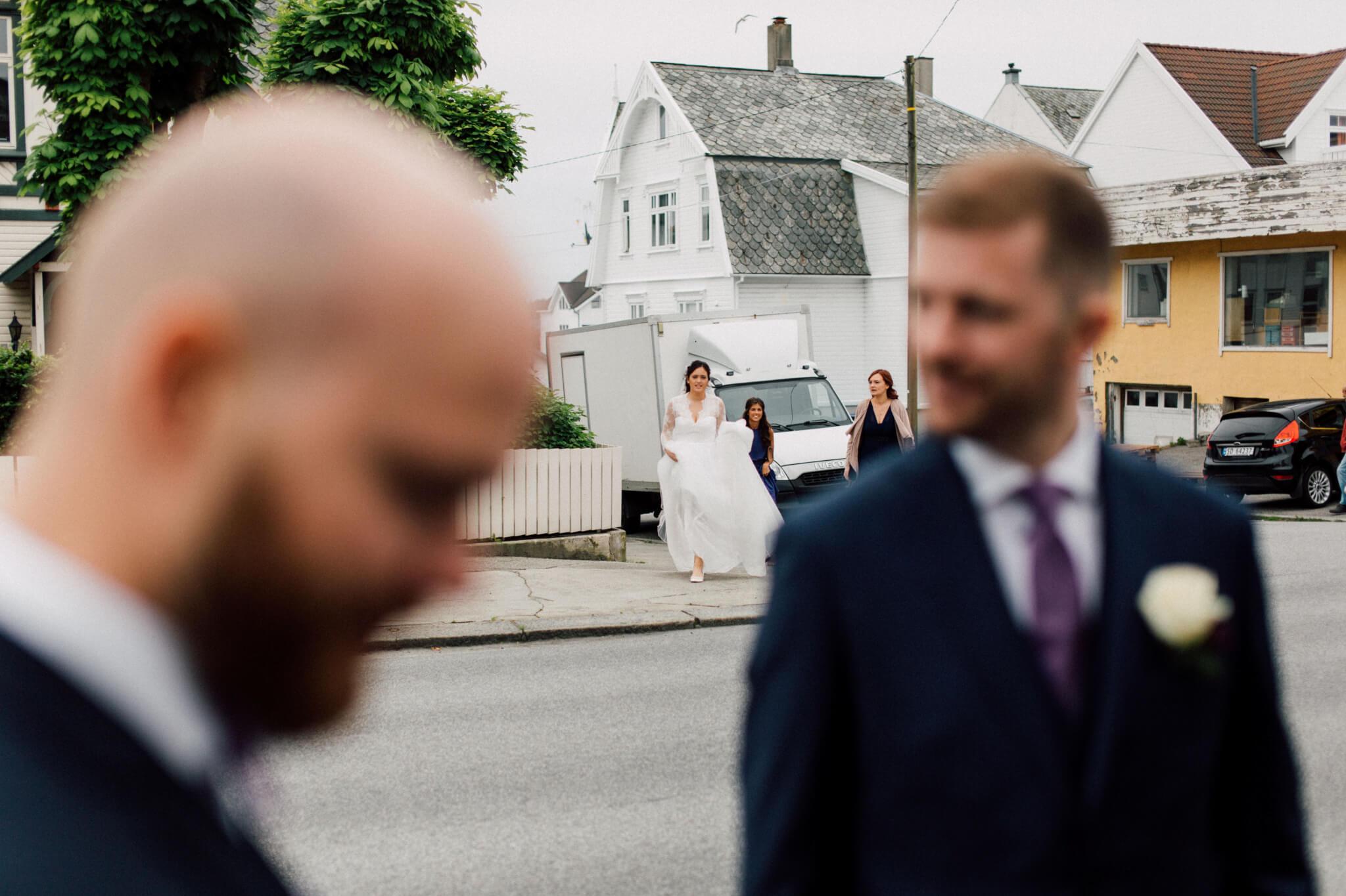 Stig og Karin sitt første møte bryllupsdagen